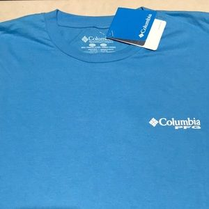 🆕 COLUMBIA PFG Mens 2XL Light Blue Cotton Shirt